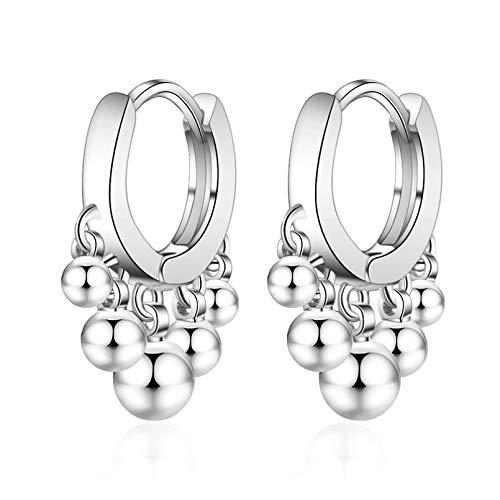 Pendientes de bola de oro para mujer, accesorios para mujer, pendientes de plata de ley 925 de moda para mujer, joyería de princesa para niñas