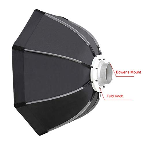 QWERTOUY 90cm Foto Draagbare Outdoor Bowens Mount Octagon Paraplu Soft Box met Draagtas voor Studio Video Fotografie Softbox