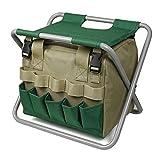 Jieyun Siège pliable portable avec outils amovible pour la randonnée, le camping, le jardinage, l'agriculture, la marche