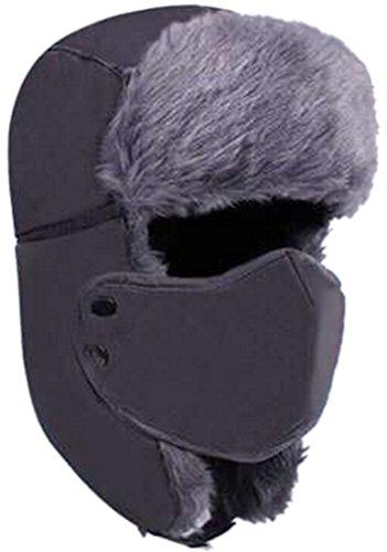 THENICE Hombre Snow Cap Protección contra el viento mascarilla Pasamontañas (gris)
