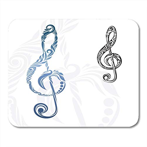 Whecom Durable Mauspad Gaming Luxury Black Music Musical Note Engraving Antique Gaming Mauspad for Notebooks,Desktop Computers Mouse Mats, Office Supplies