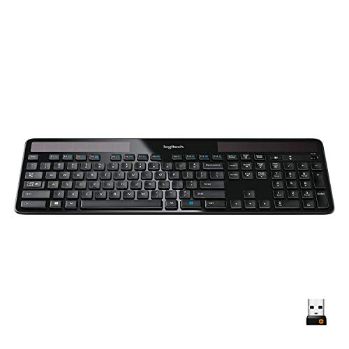 Logitech Wireless Solar Keyboard K750 - for Windows (Renewed)