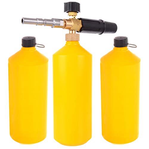 Schaumlanze Hochdruck Schaumkanone Düse für Hochdruckreiniger KEW NILFISK ALTO Professionelle schnelle Verbindung + 2x Behälter