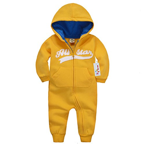 Vine Hooded Romper for Baby Newborn Cotton Long Sleeve Bodysuits Zipper Outfits