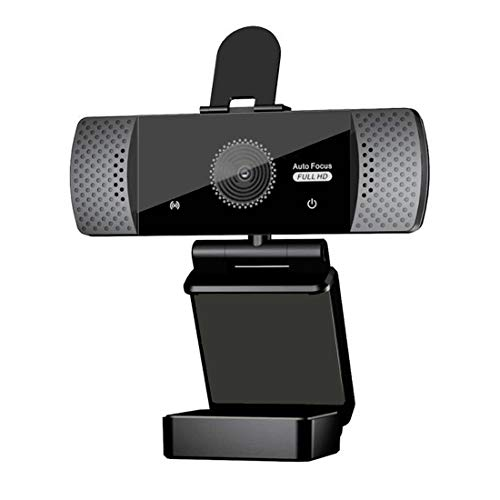 ECOiNVA Webcam 1080P Full HD with Microphone PC Web Camera with Privacy Lens Cover and Tripod for Desktop Laptop Computer Webcams (Fixed Focus 1080P)