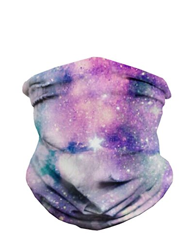 Unicorn Nebula Breathable Neck Gaiter Half Face Cover Cool Skiing Mask Bandana Festival Rave Balaclava Scarf iHeartRaves
