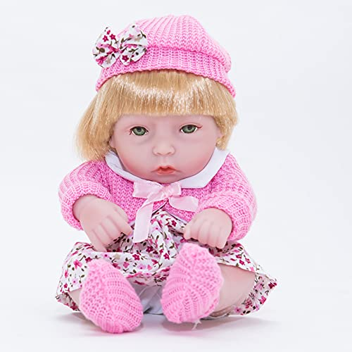 RUBAPOSM Lifelike Realistic Reborn Baby Dolls 22 Inch Weighted Reborn Girl Doll with Pink sweater and hat Toy Accessories Best Birthday Set for Girls Age 3