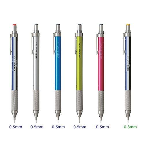 トンボ鉛筆シャープペンMONOモノグラフゼロ0.5シルバーDPA-162B