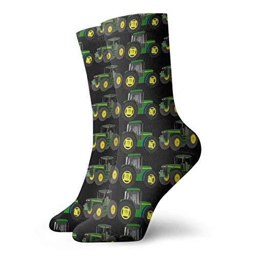 Unisex Crazy Socks Cartoon Tractors 3D Novedad Crew Calcetines