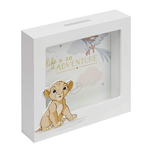 Disney Baby Magical Beginning Simba Lion King Spardose aus Holz