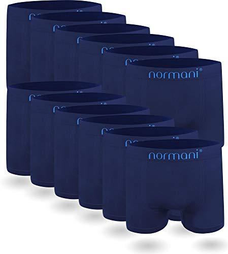 normani 6 oder 12 Mikrofaser-Unterhosen für Herren | atmungsaktive Sport-Funktions-Unterwäsche | Boxershorts | Retroshorts für Männer (Gr. S-3XL) Farbe 12 x Blau Größe L/XL