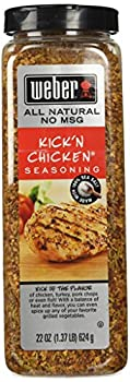 Weber Kick n Chicken Seasoning 22 Oz Made with Sea Salt - No MSG - Gluten Free - Perfect for Grilling