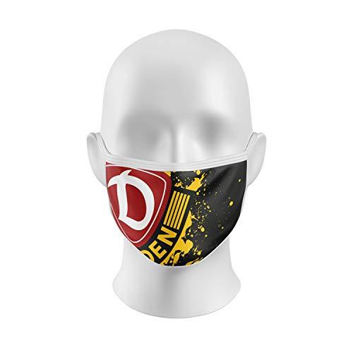 SG Dynamo Dresden Gesichtsmaske Logo schwarz-gelb