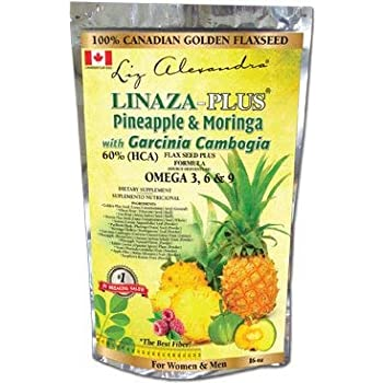 Amazon Com Linaza Plus Pineapple Moringa With Garcinia Cambogia