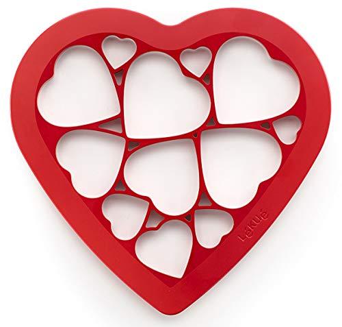 Lékué 0200160R01M017 Cutter pour Biscuits Puzzle cœur, Plastique, Multicolore, 45x35x25 cm