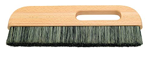 Tapezierwischer 32 x 2 cm graue Chinaborsten lackiertes Holz Malerqualität Tapetenbürste Tapezierbürste Abstauber
