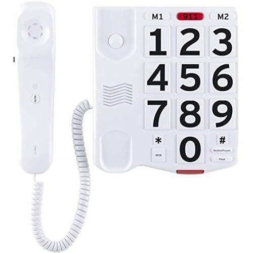 Teléfono Con Botones Grandes Para Personas Mayores Teléfonos Con Amplificación Y Volumen Alto Para Personas Con Problemas De Audición Teléfono Fijo De Escritorio Con Cable De Una Sola Línea Con Boto