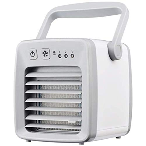 SONG Ventilador de Refrigeración Mini USB, Adecuado para Ventilador de Refrigeración Portátil en Dormitorio de Estudiantes,White