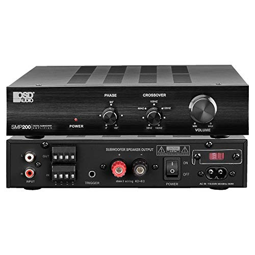 OSD Audio SMP200 Class D Digital Subwoofer Amplifier Rated 200W Max