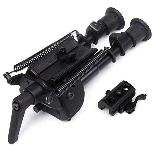 6-9 pulgadas Bípode de tipo pivotante disparo preciso Longitud extensible Patas plegables con resortes con Podlock +QD Bi-pod adaptador
