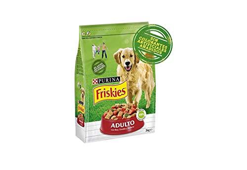 Purina Friskies Pienso para Perro Adulto Buey, Cereales y Verduras 4 x 3 Kg