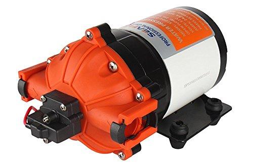 lighteu®, Seaflo DC 12V 7.0GPM / 26.6LPM 4.1 Bar, Bomba de diafragma de presión de Agua de 5 cámaras, Bomba de presión 53s para Marina, Barcos, Yates, caravanas, jardín.