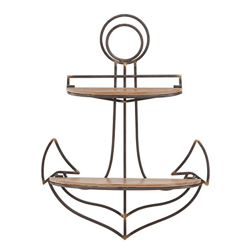 Danya B. FHB626 Decorative Sturdy Nautical Anchor Wall Shelf Coastal Seaside Home Decor