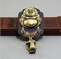 銅像アンティークトニチェット工芸品直接販売絶妙な真鍮牛革Maitreya Buddhaキーホルダーペンダント 真鍮装身具ユニークなサプライズギフト