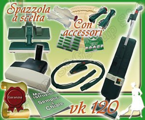 S&G group Set Completo: ASPIRAPOLVERE Folletto Kobold VK120 Usato + BATTITAPPETO + PICCHIO