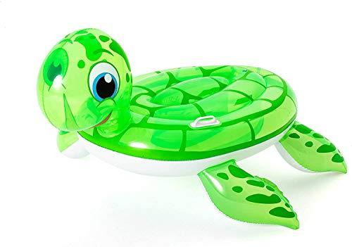 Schwimmtiere | Badetiere | Pool Tier | Wassertiere | Badeinsel Luftmatratze | Gummitiere für Pool | Wasserspielzeuge | Reittiere | aufblasbar | groß | Kinder ab 3 Jahre | Schildkröte