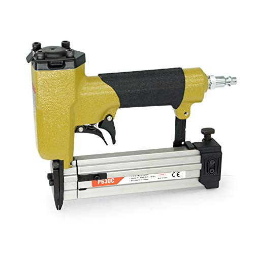 P630C Pneumatic Pin Nailer - 23 Gauge 3/8-inch to 1-3/16-inch leg - Micro Pinner Headless Pinner with Safety for Cabinets, Windows, Doors and Interior Decoration