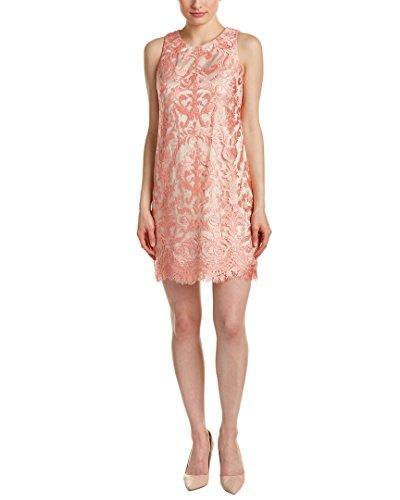 Eliza J womensEJ7M4511Sleeveless Embellished Lace Shift with Scallop Hem Sleeveless Dress - Pink - 14