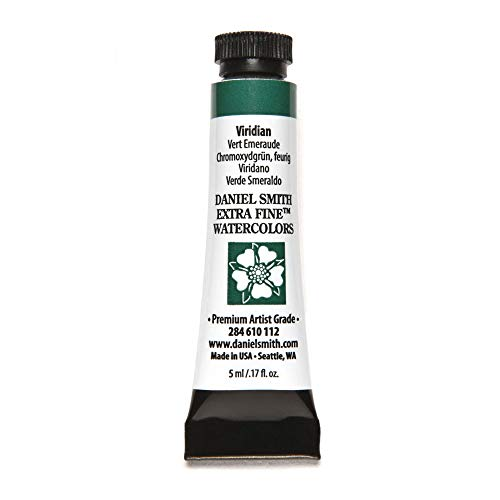 DANIEL SMITH Extra Fine Watercolor Paint, 5ml Tube, Viridian, 284610112