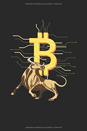 Bitcoin Bull Crypto Currency: Bulle Cryptowährung Investor Geschenke Notizbuch liniert (A5 Format, 15,24 x 22,86 cm, 120 Seiten)