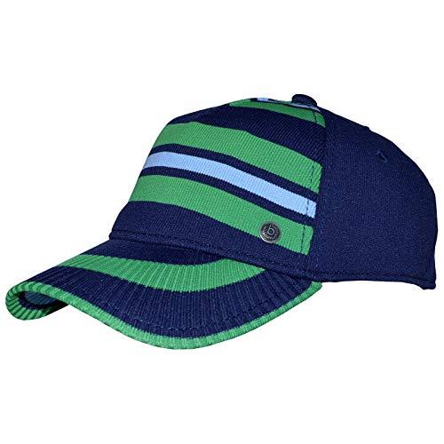 Bugatti Herren Damen Basecap Baseballcap Cap Grün-Blau mit Flexband Gr. 61