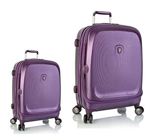 Kofferset, Gepäckset, Reisegepäck by Heys - Premium Designer Hartschalen Kofferset 2 TLG. - Crown Smart Gateway Lila Handgepäck + Koffer mit 4 Rollen Medium