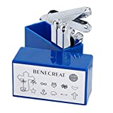 BENECREAT 12 Pack 6mm Design Briefmarken, Metall Stempel Stempel - Galvanisch Hartstahl Werkzeuge zum Stempeln/Lochen Metall, Schmuck, Leder, Holz -
