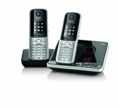 Gigaset S810A Duo - 2 teléfonos fijos inalámbricos DECT con contestador, color plateado (importado): Amazon.es: Electrónica