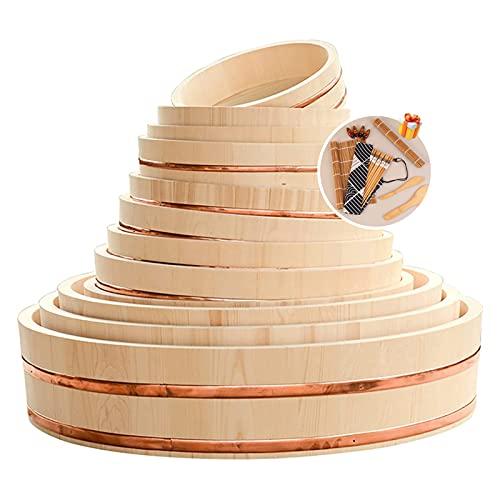 Strumenti Di Sushi Gratis, Grande Vasca Da Miscelazione Di Miscelazione Del Riso Di Sushi Di Hangeri Di Legno Giapponese Per Il Ristorante Dei Sushi Dei Sushi 10-28 Pollici Diametro,60cm/23.6in