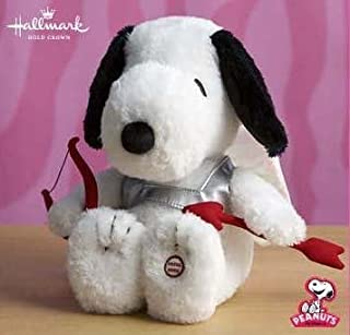 "Hallmark Snoopy Cupid 11"" Plush Dog"