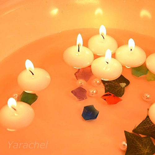 Yarachel 1.5'' White Water Floating Disc Candles (100 Pieces)