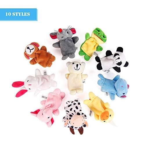 Scrox 10 Unids Marionetas de Dedo Juguete Novedad del Bebé Animal Educativo Juguetes de Mano para Bebé Tiempo de Cuentos Espectáculos Tiempo de Juego Escuelas Incluyendo
