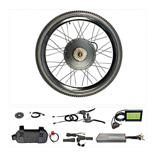 LIBAITIAN Bicecleta Eléctrica Kit 48 V 1500 W, Rueda Trasera, Controlador de Modo Dual, buje de Bicicleta eléctrica, Accesorios duraderos para Bicicletas