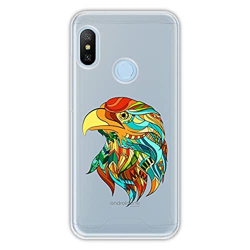 Hapdey Funda rígida para [ Xiaomi Mi A2 Lite - Redmi 6 Pro ] diseño [ Abstracto, águila Arcoiris ] Carcasa TPU, Transparente