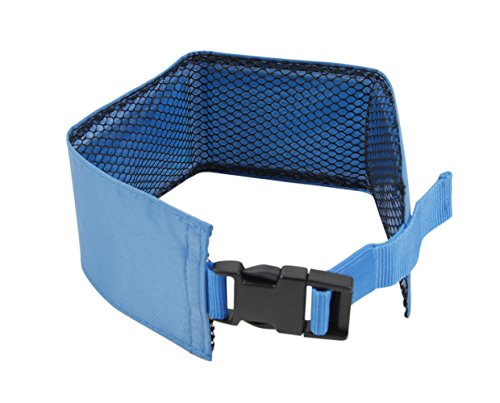 PET LIFE 'Summer-Cooling' Ice Insertable and Neck Adjustable Cooling Safety Ice Pack Dog Neck Wrap, One Size, Blue