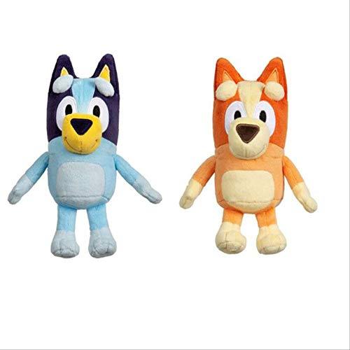 N\A Bluey and Bingo Jumbo Dog Friends TV Plush Toy, Soft Movie Christmas Figure Toy Plush Collectible Gift Peluches 28cm Bluey y Bingo