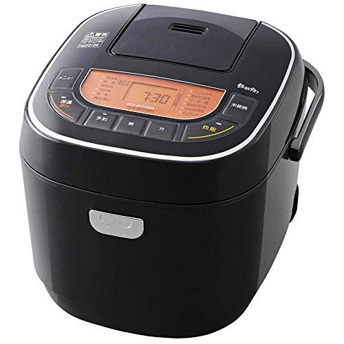 アイリスオーヤマ 炊飯器 一升 10合 マイコン式 31銘柄炊き分け機能 極厚火釜 玄米 ブラック RC-MC10-B