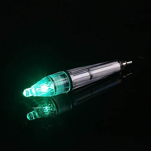 Haihuic Luz de señuelo de pesca profunda, lámpara de atracción de peces bajo el agua, luz de pesca intermitente, luz estroboscópica de calamar, señuelo de pesca LED 17cm