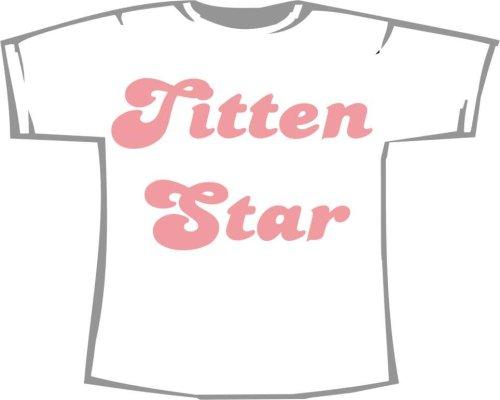 Titten Star; Fun T-Shirt weiß, Gr. XXXL