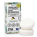 Champú Sólido, 2 Pack 60g - Reparación y Volumen - Todo tipo de cabello - 100% Vegano y biodegradable. Libre de sulfatos y parabenos - de Zenential